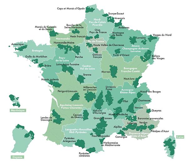 Les 51 parcs naturels régionaux de France