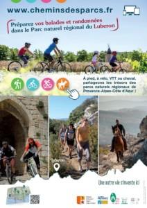 Affiche Luberon www.cheminsdesparcs.fr