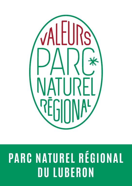 Logo de la marque Valeurs Parc naturel régional du Luberon(R)