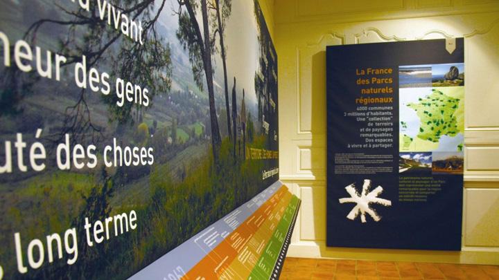 Salle d'exposition à la Maison du Parc (photo PNRL - Matthieu Camps)