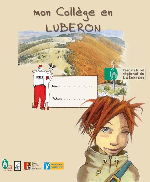 """Couverture du classeur """"Mon collège en Luberon"""" - conception Aline Laage"""