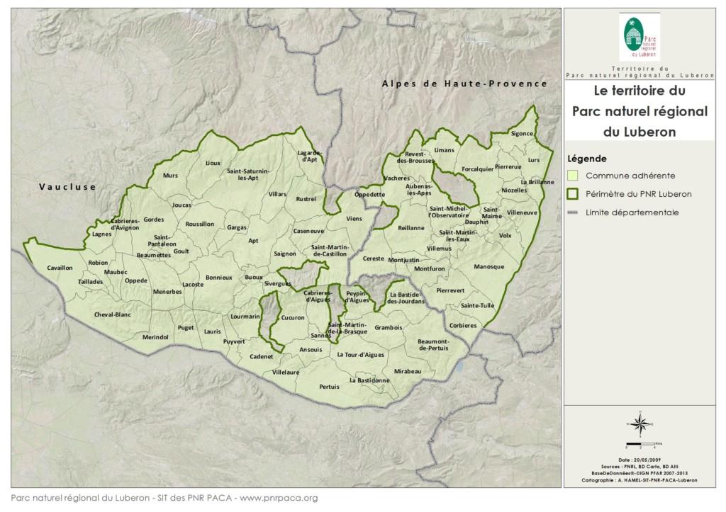 Le Perimetre Du Parc Naturel Regional Luberon