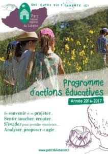 Couverture du Programme d'actions éducatives 2016-2017