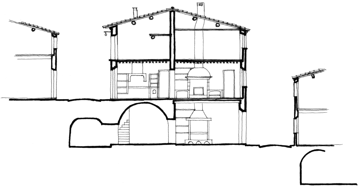 Plan maison ancienne latest gale mauvaise odeur maison for Plan coupe maison