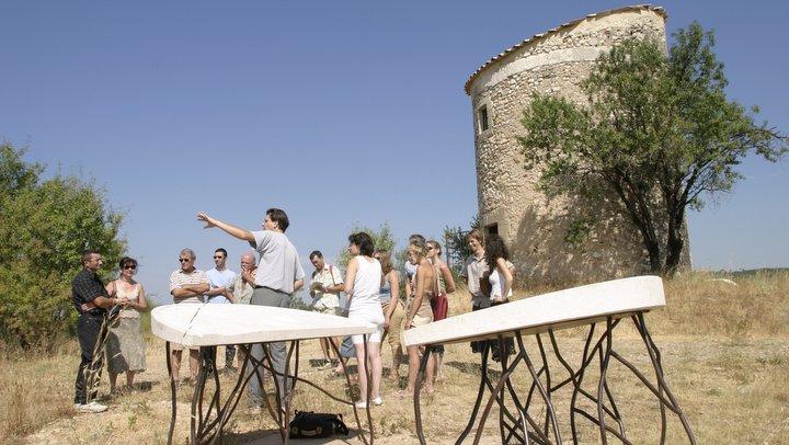 Visite du moulin de Salignan, à Apt (photo AVECC - Hervé Vincent)