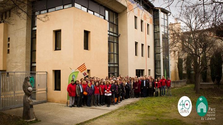 Élus et équipe réunis pour les 40 ans du Parc du Luberon le 31 janvier 2017 © PNRL-Jérémie Haye