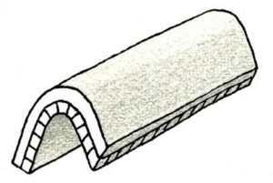 Schéma d'anticlinal (illustration Georges Bronner)