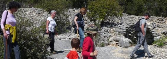 Randonnée accompagnée par des agents du Parc du Luberon © PNRL - Marjorie Grimaldi