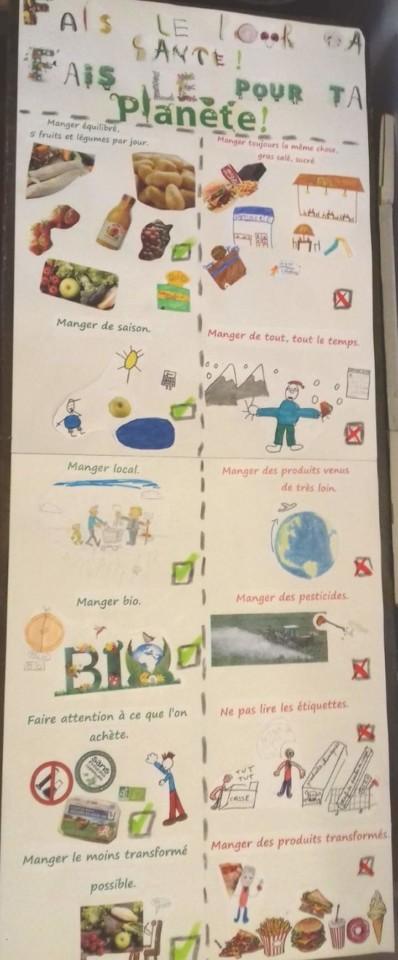 affiche sur le gaspillage alimentairePhoto : école de Gargas