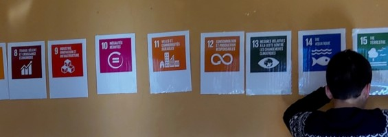 Animation sur les Objectifs de Développement Durable (photo Collège Mont d'Or - Anne TEMPE)